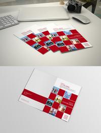 红色几何时尚画册封面设计