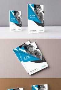 时尚线条科技简约商务封面