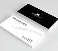 白色简约现代商务公司名片