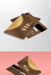 金色底纹VIP会员卡