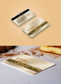 高档金色VIP会员卡
