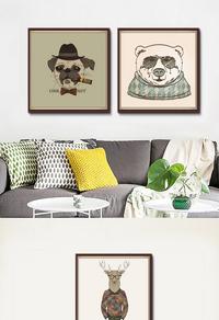 创意现代客厅装饰画设计