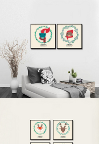 北欧风格家居装饰画设计