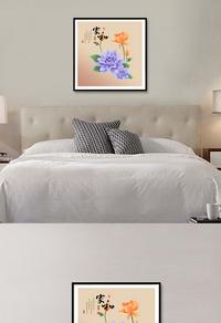 高清花卉无框画设计