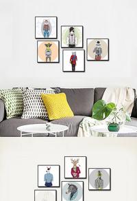 欧式卡通动物装饰画设计