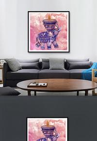 艺术装饰画高清PSD下载
