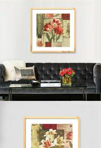 手绘花朵装饰画设计