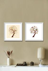 抽象植物装饰画高清下载