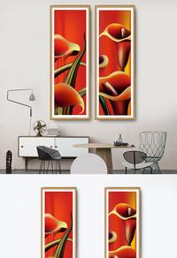 高清抽象花卉PSD装饰画下载