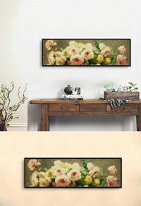 美丽花卉高清无框画设计下载