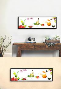 水果搭配高清无框画设计下载
