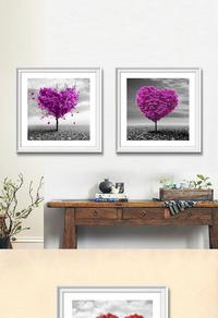 爱心大树无框画设计
