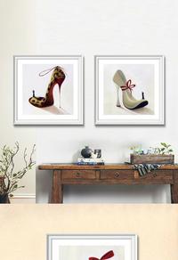 时尚高跟鞋装饰画设计