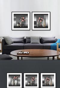 精美花瓶客厅装饰画设计