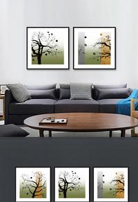 抽象大树装饰画设计