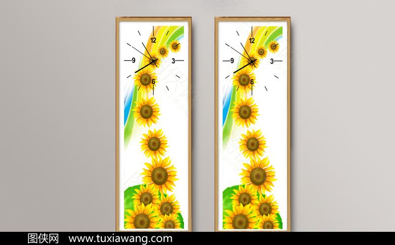 高清创意向日葵挂画设计下载
