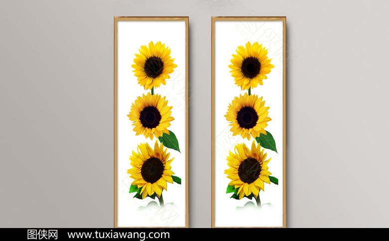 创意向日葵高清挂画模板下载
