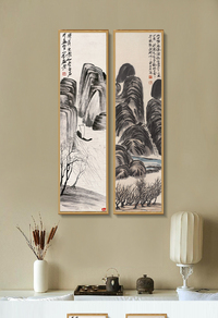 古典中式创意山水挂画模板下载