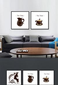 精品简约咖啡无框画设计