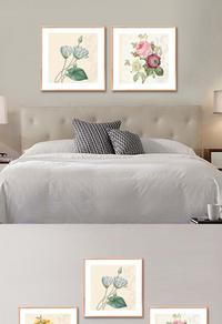 高档复古花卉无框画设计