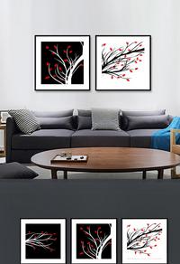 精美拼接植物装饰画设计