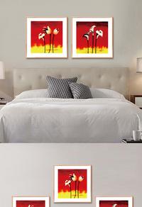 红色经典无框画设计