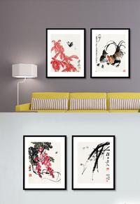 中国风家居无框画设计