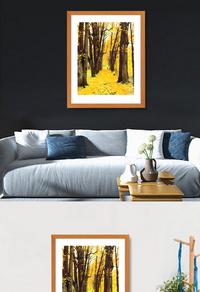 精美大树落叶装饰画设计