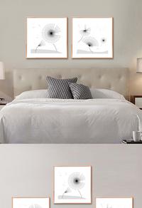 创意简约蒲公英装饰画设计