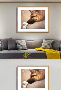 高端动物无框画设计下载