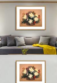 创意花卉无框画设计