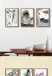 中国风装饰画设计psd下载