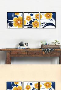 高档拼接花卉装饰画设计