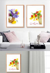 装饰花卉无框画下载