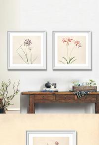 高清简约花卉装饰画设计