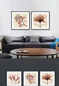 经典手绘花卉装饰画设计