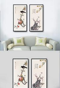 高档花鸟装饰画设计