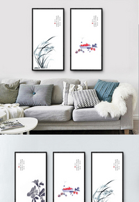 创新竹子装饰画设计