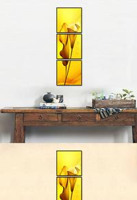 高档拼接金色花朵装饰画设计