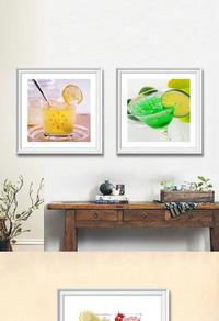 创意果汁装饰画设计