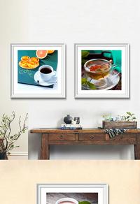 精美咖啡杯装饰画设计