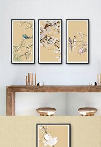 高档花鸟图装饰画设计