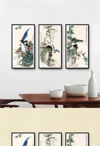 高端中国风竹子装饰画设计