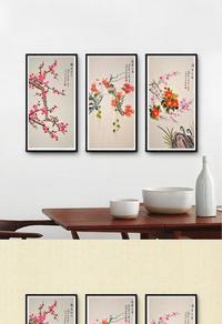 创新中国风梅花装饰画设计