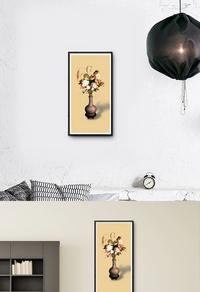 精美中式花瓶装饰画设计