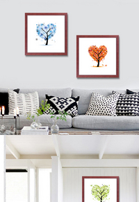 现代简约发财树装饰画设计