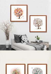 高清发财树装饰画设计