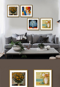 精美花卉客厅装饰画设计