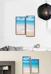 大海沙滩装饰画设计
