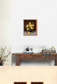 手绘精美花卉装饰画